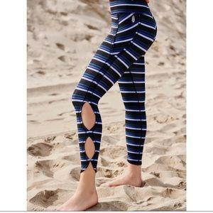 Free People Pants - Free People Striped Infinity Leggings NWT 🍇